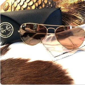 Ray-Ban Aviators Large Frame (rose gold)